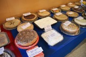A selection of the pies to be auctioned