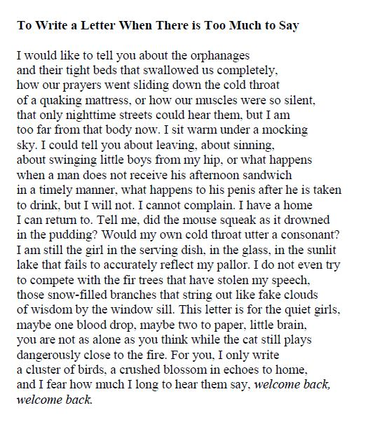 April Michelle Bratten - To Write a Letter When There Is Too Much to Say p9
