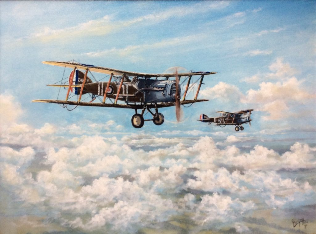Roger Gargett world war one plane painting