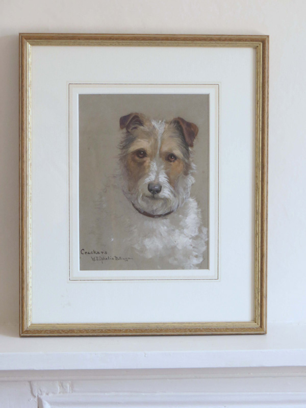 watercoloiur painting of a terrier by Ophilia Billinge