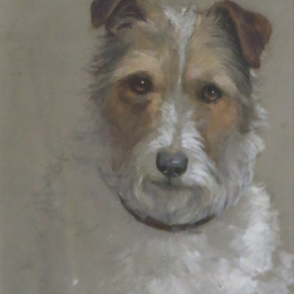 Watercolour terrier painting by Ophelia Billinge