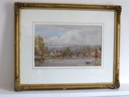 The Old Woolpack Bridge, Framed Watercolour Landscape by Bryan Whitmore