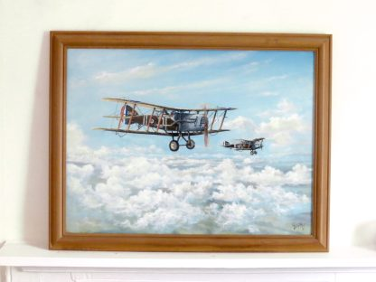 Bristol Fighters, Oil Painting of Plane by Roy Gargett