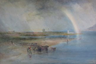 Mouth of the Conway, Watercolour painting of Walesby James T. Gee