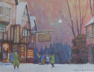 The Holly Tree Painting of Carol Singers Ernest Uden