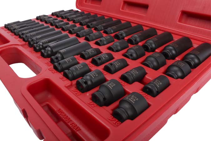 1 4 Quot Dr Master Impact Socket Set 48 Piece Sunex Tools
