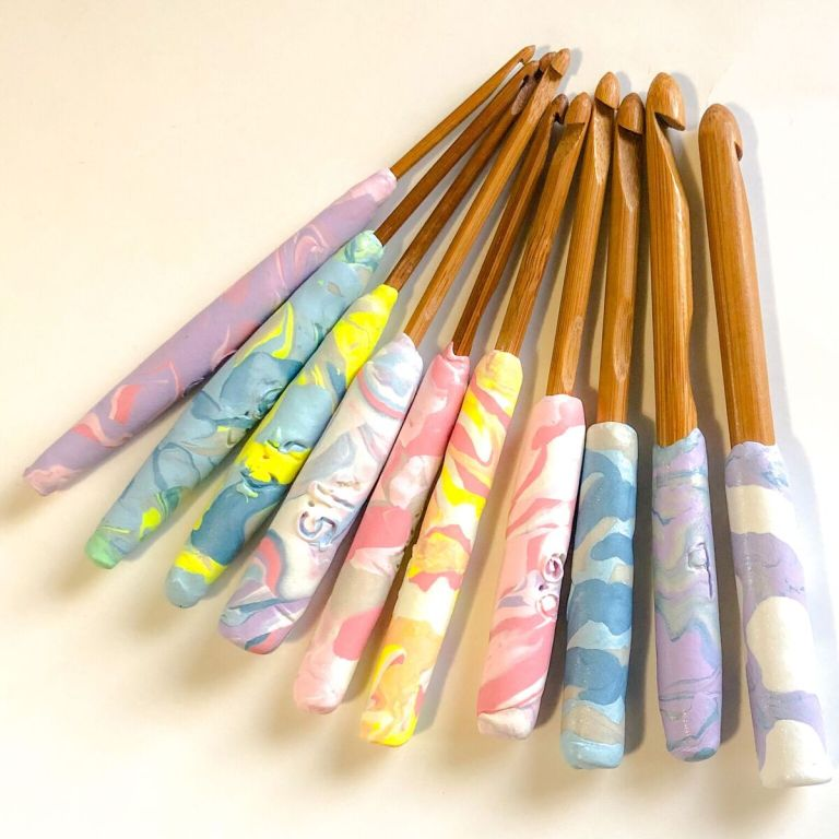 DIY crochet hook handles