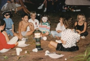 Meade and Friends in the woods 1988