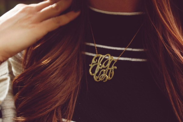 Jennifer Zeuner Monogrammed Necklace