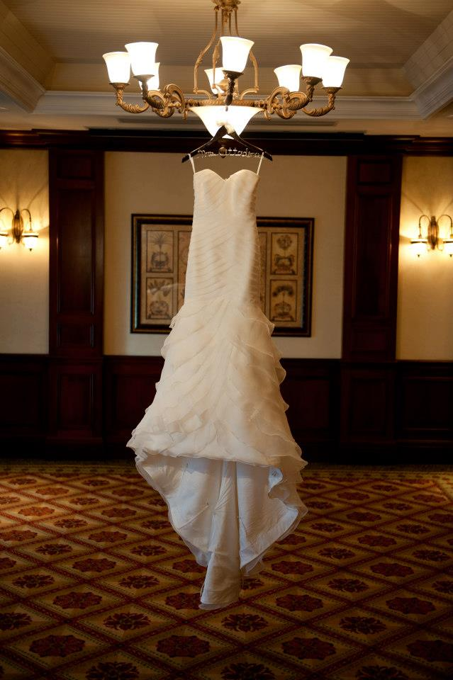 San Patrick mermaid wedding gown