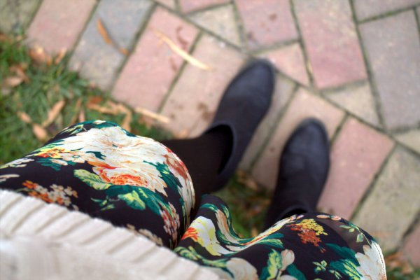 Floral Skirt and Booties