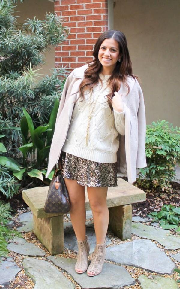 Sequin Skirt in winter