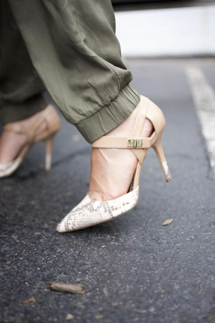 BCBG Snakeskin Heels