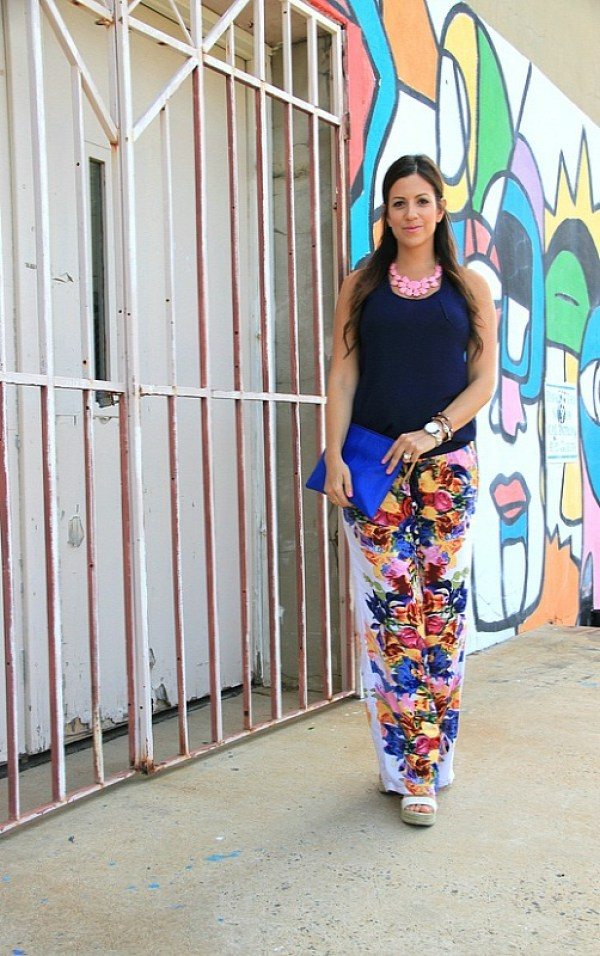 Floral Wide-Legged Pants