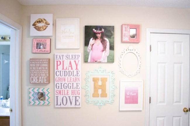 Gallery Wall in baby nursery, baby room gallery wall, Project Nursery Gallery Wall