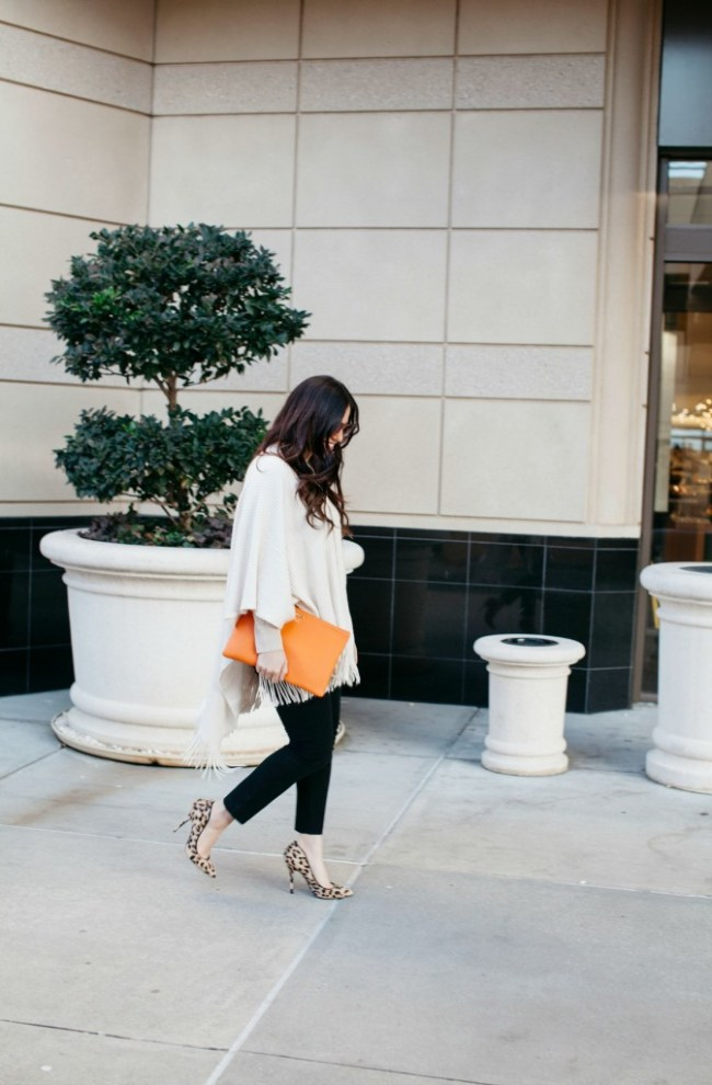 Adding a Pop of Orange to Your Outfit by Jaime Cittadino of Sunflowers and Stilettos