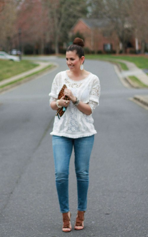 Anthropologie Boho Fringed Top