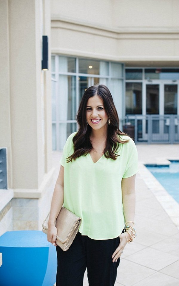 St. Patrick's Day outfit inspiration with neon green