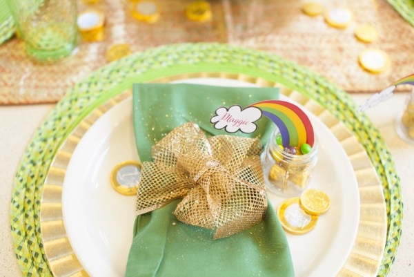 St. Patrick's Day party table decor