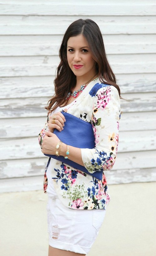 What to Wear with a Floral Blazer
