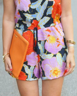 floral romper for summer