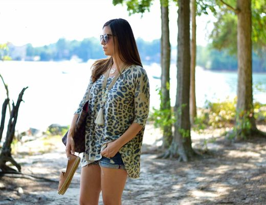 boyfriend style leopard top