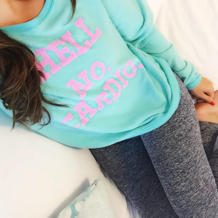 Wildfox Couture Hell No Cardio Sweatshirt