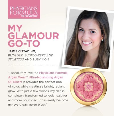 Physician's Formula Argan Collection review, Jaime Cittadino, beauty blogger, argan blush