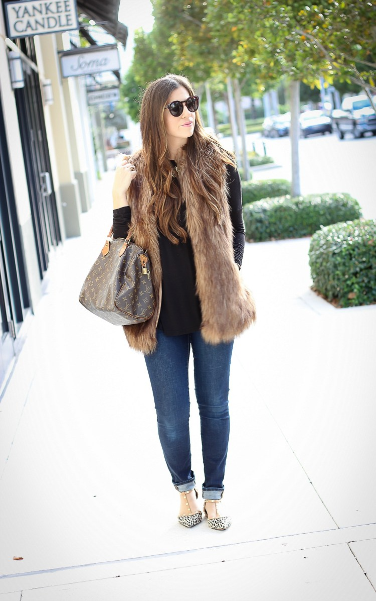 best way to wear a faux fur vest