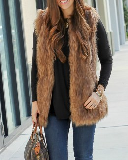 best faux fur vest, cute faux fur vest, faux fur vest under $50
