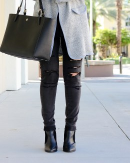 black distressed jeans, American Eagle distressed jeans