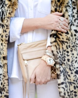 leopard and white outfit