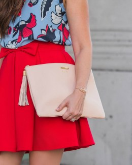 red bow skirt, skirt with bow
