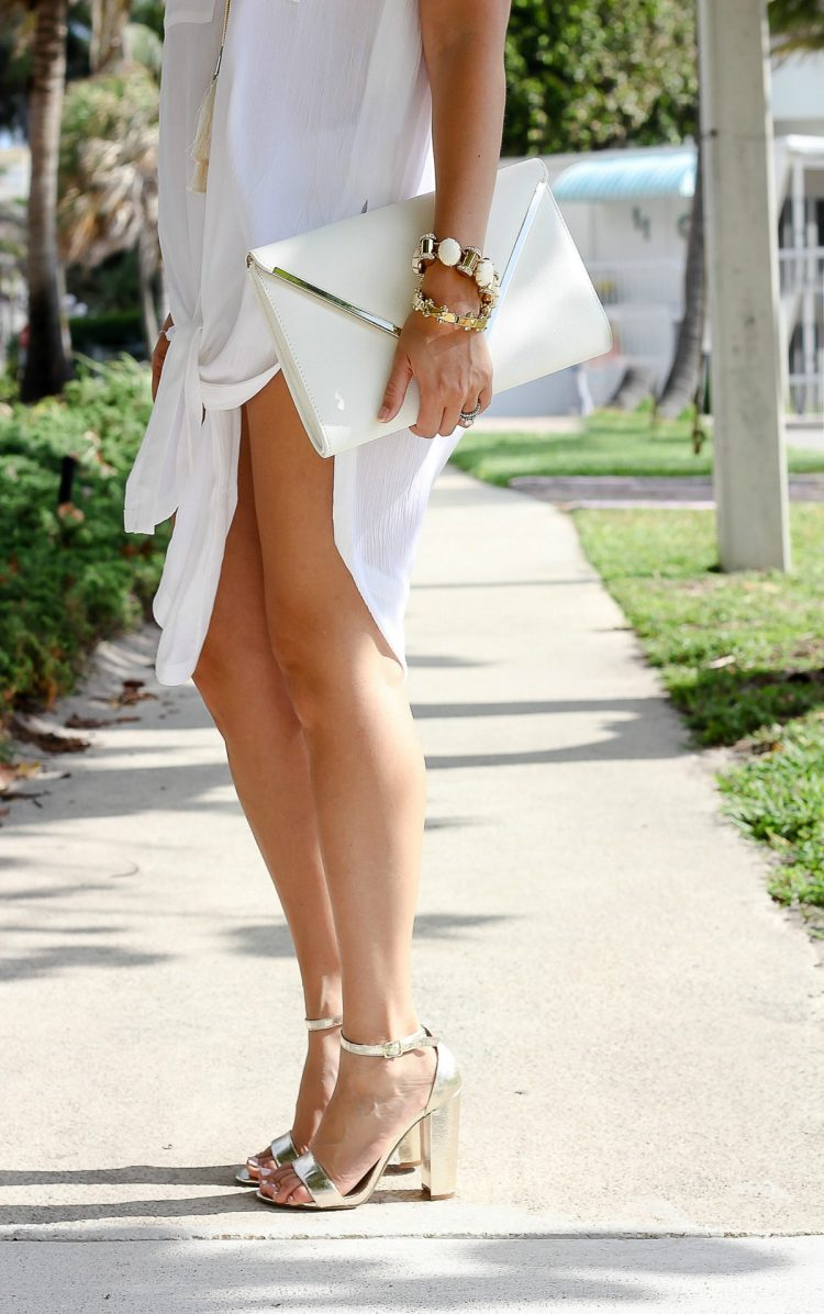 Steve Madden Carrson, Anthropologie tunic, Lele Sadoughi Jewelry
