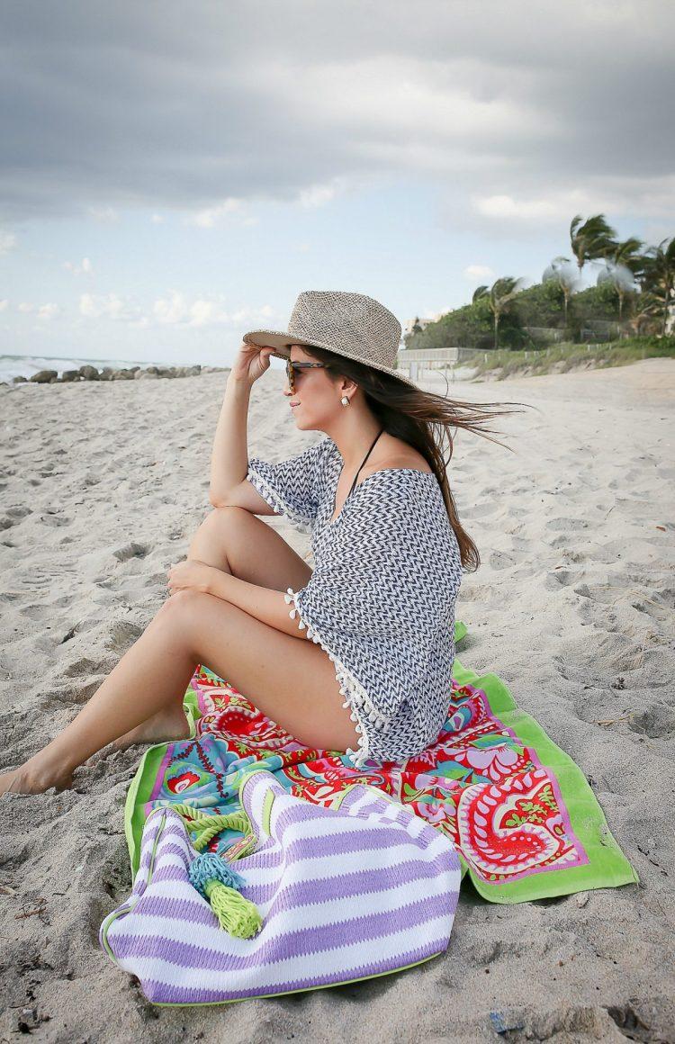 eberjay coverup, vera bradley beach bag tote, vera bradley beach towel