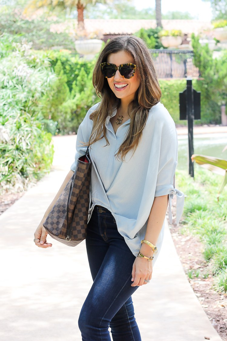 Casual Twist Smock Top, casual mom on the go look