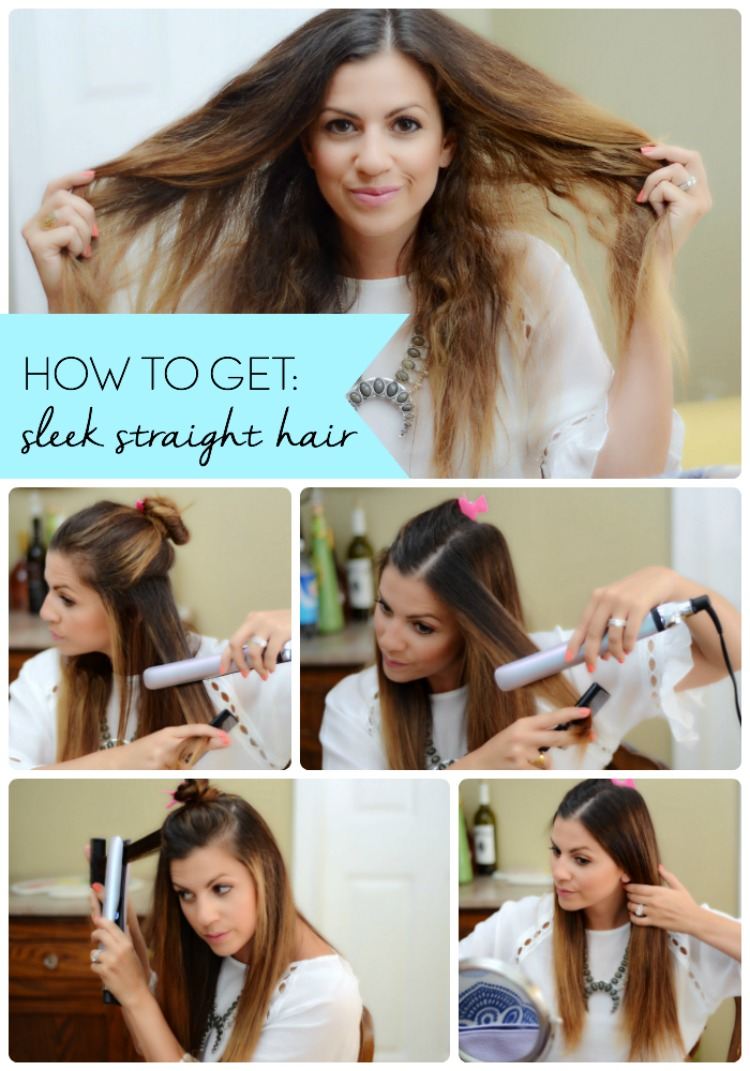 How To Get Sleek Straight Hair
