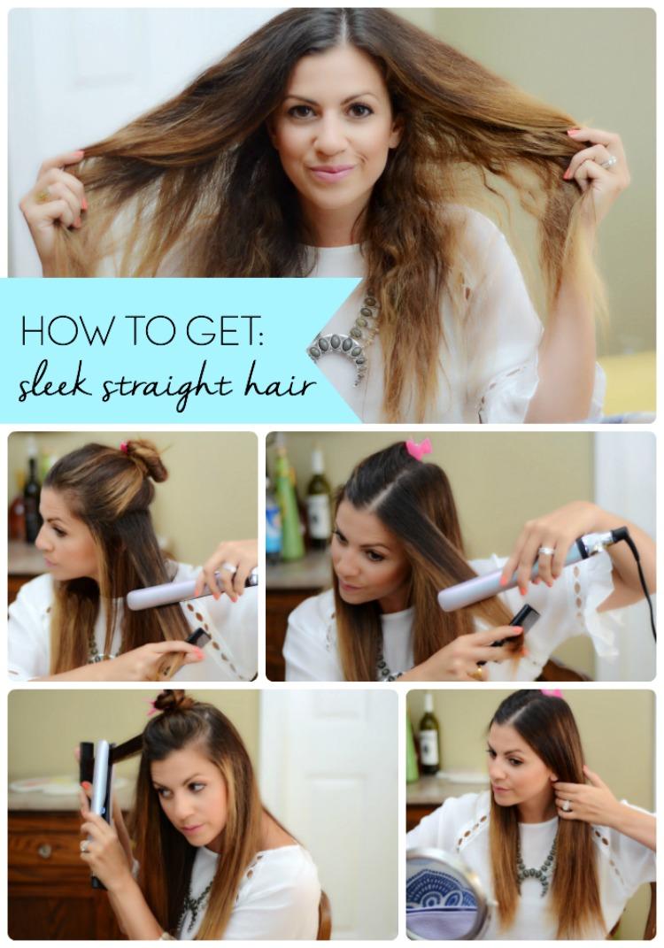 How To Get Sleek Straight Hair