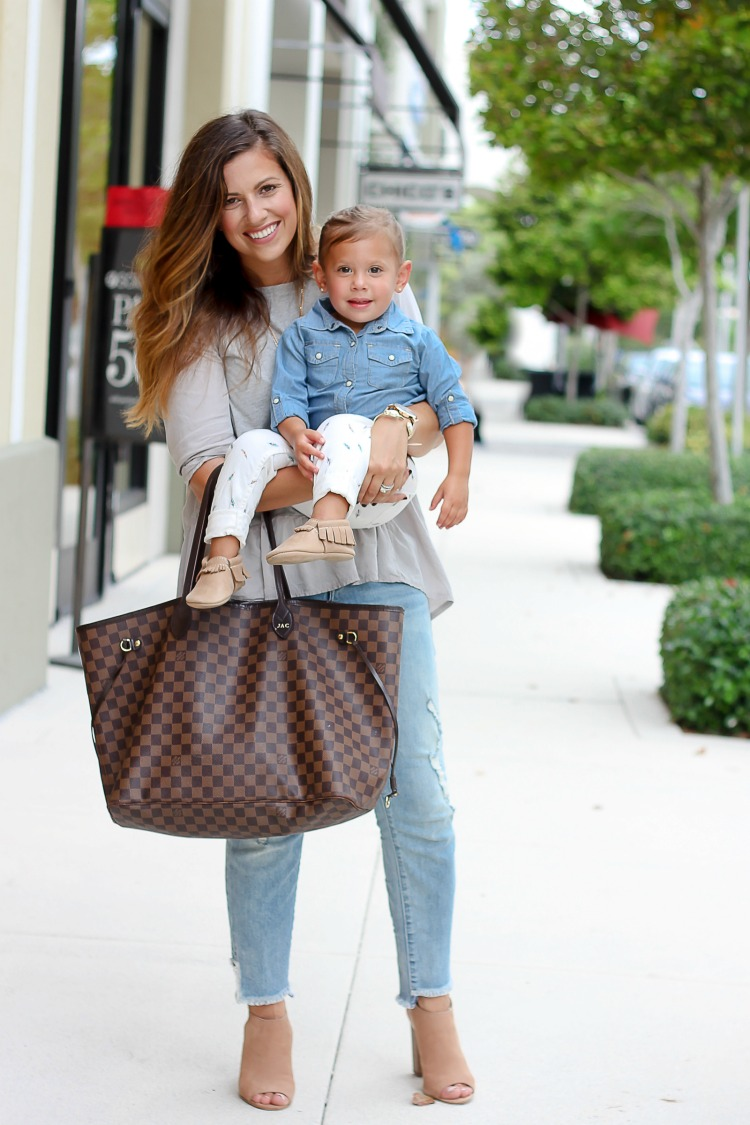 Miami Fashion blogger Jaime Cittadino and daughter styling a Mommy and Me Shoot