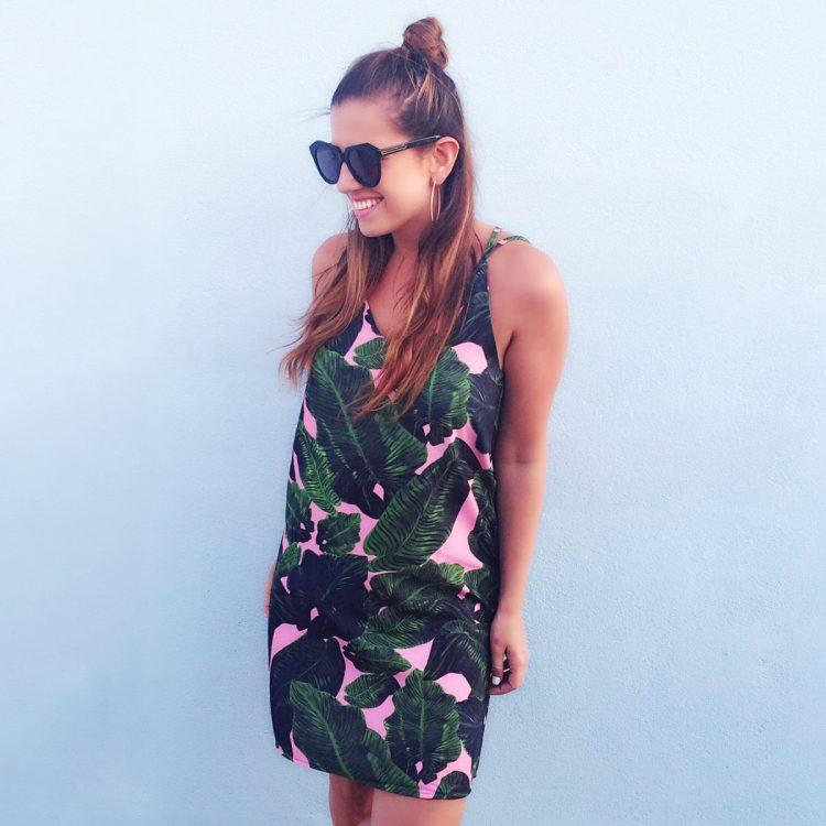 goodnight macaroon palm leaf dress