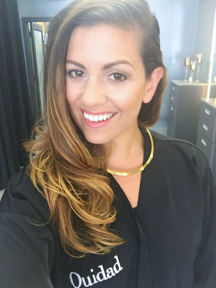 Style blogger Jaime Cittadino of Sunflowers and Stilettos at Ouidad Fort Lauderdale