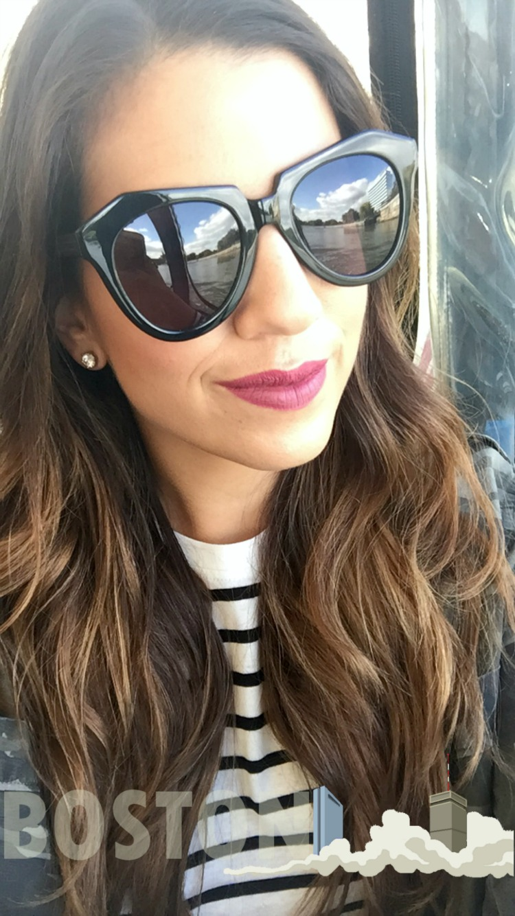 Karen Walker Number One Sunglasses in black