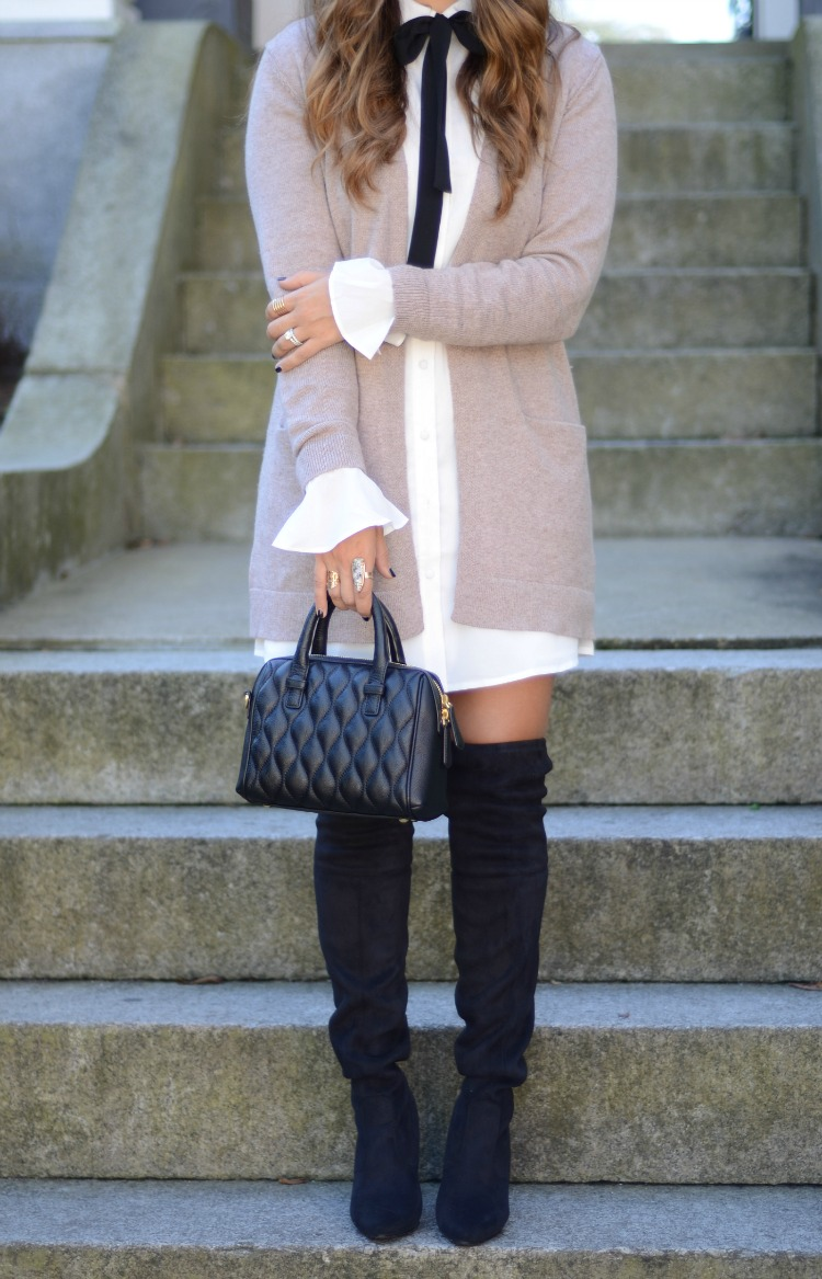 How to stlye a shirtdress by fashion style blogger, Jaime Cittadino of Sunflowers and Stilettos