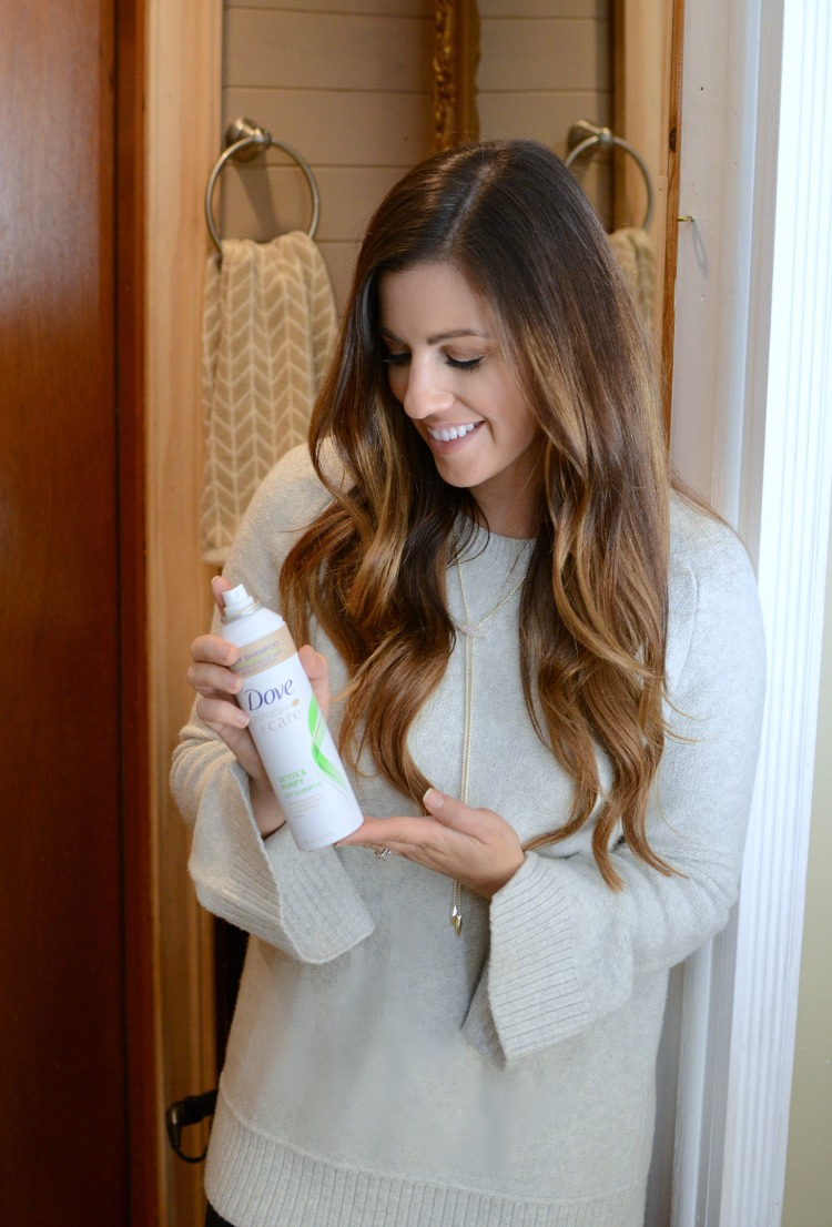 Dove Refresh + Care Detox Purify Dry Shampoo by beauty blogger Jaime Cittadino of Sunflowers and Stilettos