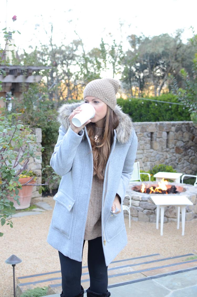Fashion blogger, Jaime Cittadino of Sunflowers and Stilettos at Farmhouse Inn, California