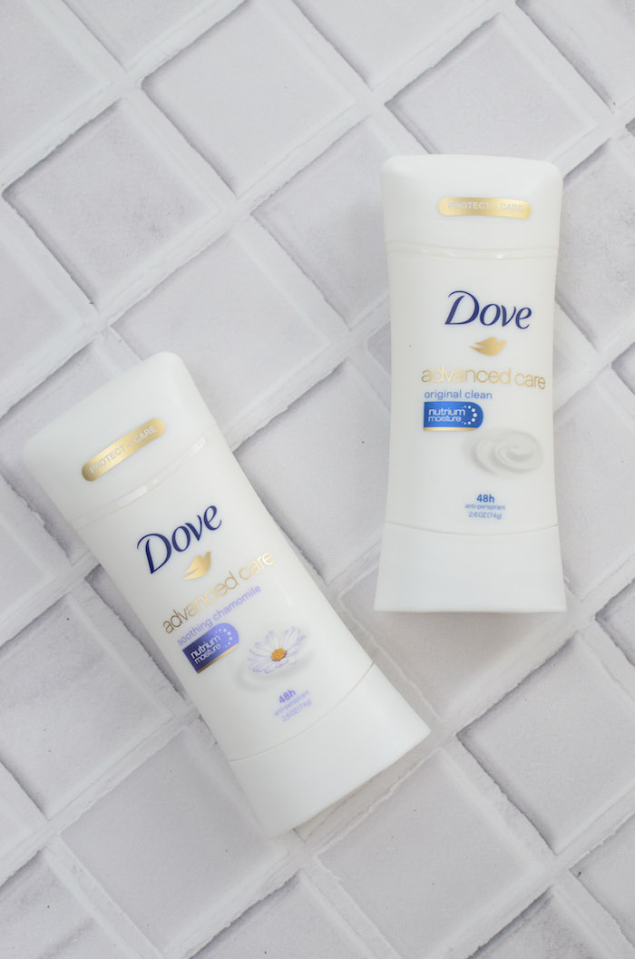 beauty blogger, Jaime Cittadino of Sunflowers and Stilettos reviewing Dove's antiperspirant line