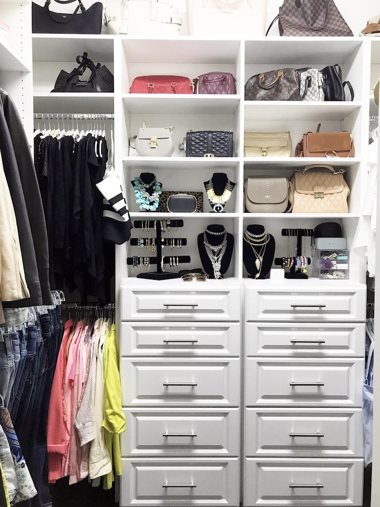Custom Closet Design, Lifestyle Blogger Jaime Cittadino of Sunflowers and Stilettos, South Florida Custom Closets