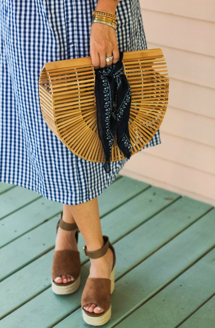 Cult Gaia Bag, Indigo RD wedges, Best Marc Fisher dupes