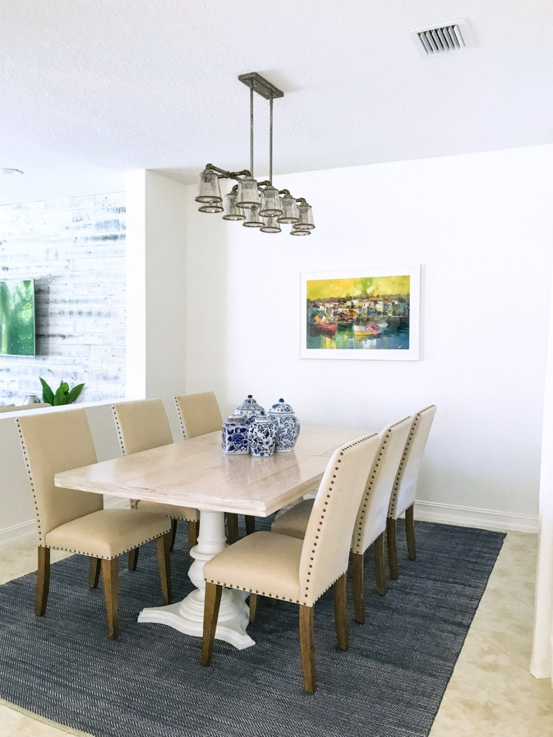 Dining Room Inspo _ Farmhouse Dining Table _ Industrial Chandelier