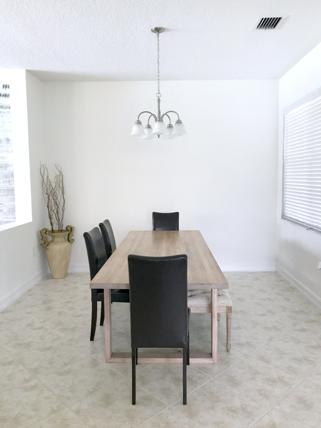 Dining Room Before and After photo _ Dining Room Makeover